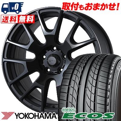 225/40R18 88W YOKOHAMA ヨコハマ DNA ECOS ES300 DNA エコス ES300 IGNITE XTRACK イグナイト エクストラック サマータイヤホイール4本セット