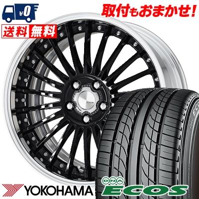 245/35R20 95W XL YOKOHAMA ヨコハマ DNA ECOS ES300 DNA エコス ES300 WORK LANVEC LF1 ワーク ランベック エルエフワン サマータイヤホイール4本セット