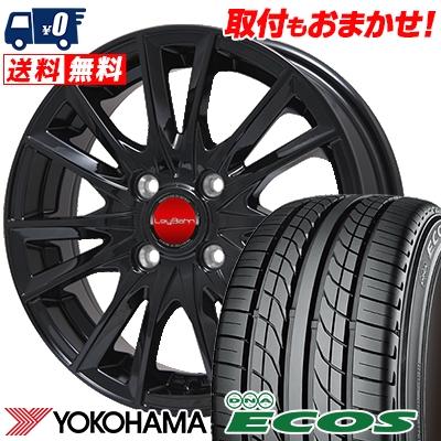 205/55R15 87V YOKOHAMA ヨコハマ DNA ECOS ES300 DNA エコス ES300 LeyBahn GBX レイバーン GBX サマータイヤホイール4本セット