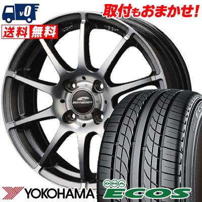 205/50R16 87V YOKOHAMA ヨコハマ DNA ECOS ES300 DNA エコス ES300 SCHNEDER StaG シュナイダー スタッグ サマータイヤホイール4本セット