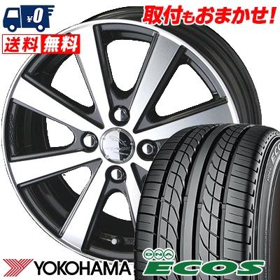 205/45R16 83W YOKOHAMA ヨコハマ DNA ECOS ES300 DNA エコス ES300 SMACK VIR スマック VI-R サマータイヤホイール4本セット