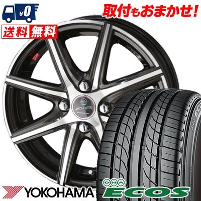 195/50R15 82V YOKOHAMA ヨコハマ DNA ECOS ES300 DNA エコス ES300 SMACK PRIME SERIES VANISH スマック プライムシリーズ ヴァニッシュ サマータイヤホイール4本セット