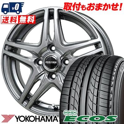 205/55R15 87V YOKOHAMA ヨコハマ DNA ECOS ES300 DNA エコス ES300 WAREN W04 ヴァーレン W04 サマータイヤホイール4本セット