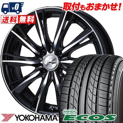 205/40R17 80W YOKOHAMA ヨコハマ DNA ECOS ES300 DNA エコス ES300 weds LEONIS WX ウエッズ レオニス WX サマータイヤホイール4本セット