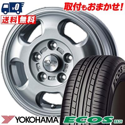 155/80R13 79S YOKOHAMA ヨコハマ ECOS ES31 エコス ES31 VICENTE-05 TL ヴィセンテ05 TL サマータイヤホイール4本セット