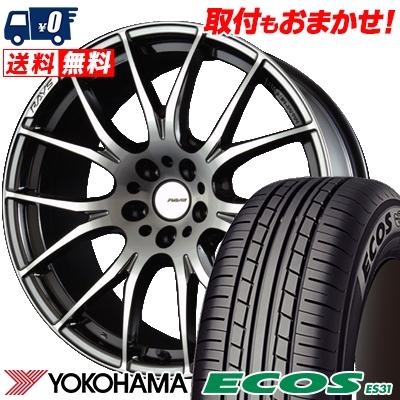 215/45R18 93W XL YOKOHAMA ヨコハマ ECOS ES31 エコス ES31 RAYS HOMURA 2X7 レイズ ホムラ ツー・バイ・セブン サマータイヤホイール4本セット