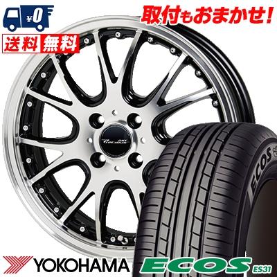 195/55R15 85V YOKOHAMA ヨコハマ ECOS ES31 エコス ES31 Precious AST M2 プレシャス アスト M2 サマータイヤホイール4本セット