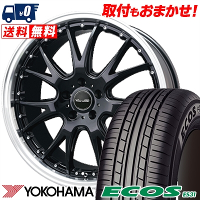 215/45R18 93W XL YOKOHAMA ヨコハマ ECOS ES31 エコス ES31 Precious AST M2 プレシャス アスト M2 サマータイヤホイール4本セット