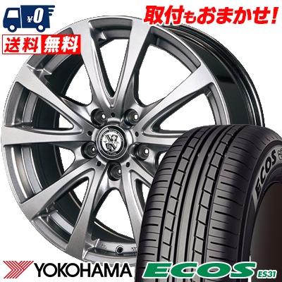 215/55R17 94V YOKOHAMA ヨコハマ ECOS ES31 エコス ES31 TRG-BAHN TRG バーン サマータイヤホイール4本セット