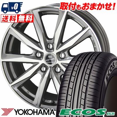 205/60R16 92H YOKOHAMA ヨコハマ ECOS ES31 エコス ES31 SMACK BASALT スマック バサルト サマータイヤホイール4本セット