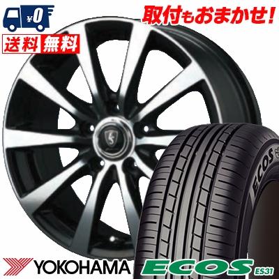 205/60R15 91H YOKOHAMA ヨコハマ ECOS ES31 エコス ES31 EuroSpeed BL10 ユーロスピード BL10 サマータイヤホイール4本セット