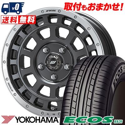 195/60R16 89H YOKOHAMA ヨコハマ ECOS ES31 エコス ES31 CRAG T-GRABIC クラッグ Tグラビック サマータイヤホイール4本セット