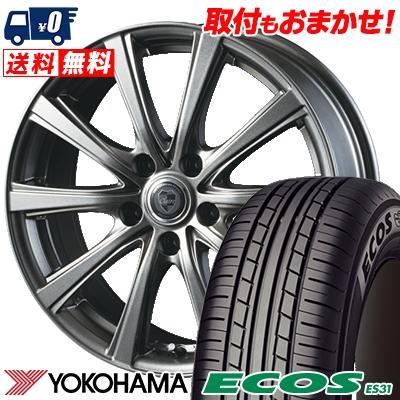 205/60R16 92H YOKOHAMA ヨコハマ ECOS ES31 エコス ES31 CLAIRE DG10 クレール DG10 サマータイヤホイール4本セット