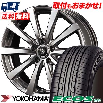 205/60R16 92H YOKOHAMA ヨコハマ ECOS ES31 エコス ES31 Euro Speed G10 ユーロスピード G10 サマータイヤホイール4本セット