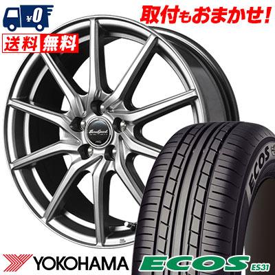 215/55R17 94V YOKOHAMA ヨコハマ ECOS ES31 エコス ES31 EuroSpeed G810 ユーロスピード G810 サマータイヤホイール4本セット
