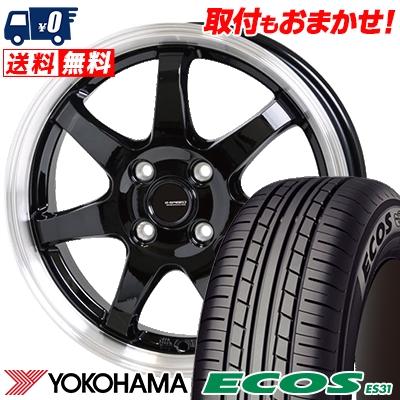 175/65R15 84S YOKOHAMA ヨコハマ ECOS ES31 エコス ES31 G.speed P-03 ジースピード P-03 サマータイヤホイール4本セット