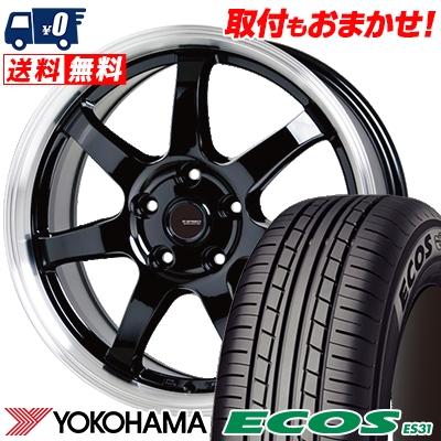 195/65R15 91S YOKOHAMA ヨコハマ ECOS ES31 エコス ES31 G.speed P-03 ジースピード P-03 サマータイヤホイール4本セット