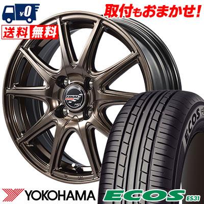 185/55R15 82V YOKOHAMA ヨコハマ ECOS ES31 エコス ES31 FINALSPEED GR-Volt ファイナルスピード GRボルト サマータイヤホイール4本セット