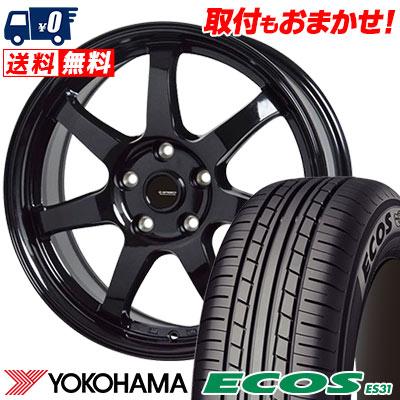 205/65R15 94S YOKOHAMA ヨコハマ ECOS ES31 エコス ES31 G.speed G-03 Gスピード G-03 サマータイヤホイール4本セット