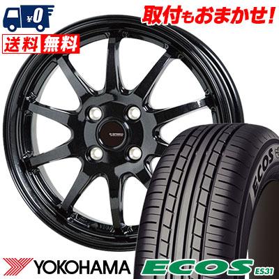 175/60R16 82H YOKOHAMA ヨコハマ ECOS ES31 エコス ES31 G.speed G-04 Gスピード G-04 サマータイヤホイール4本セット