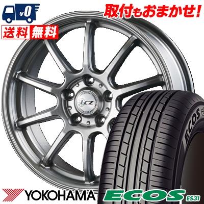 215/55R16 93V YOKOHAMA ヨコハマ ECOS ES31 エコス ES31 LCZ010 LCZ010 サマータイヤホイール4本セット
