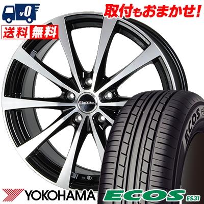 205/60R16 92H YOKOHAMA ヨコハマ ECOS ES31 エコス ES31 Laffite LE-03 ラフィット LE-03 サマータイヤホイール4本セット