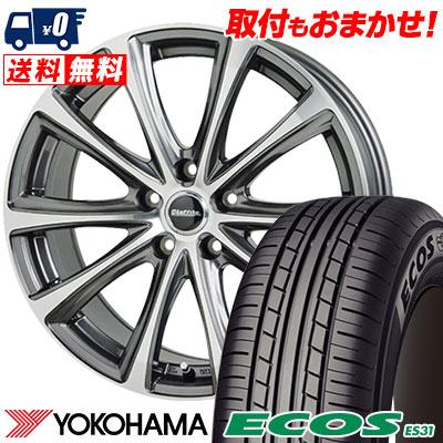 205/65R15 94S YOKOHAMA ヨコハマ ECOS ES31 エコス ES31 Laffite LE-04 ラフィット LE-04 サマータイヤホイール4本セット