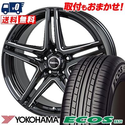 205/60R15 91H YOKOHAMA ヨコハマ ECOS ES31 エコス ES31 Laffite LW-04 ラフィット LW-04 サマータイヤホイール4本セット