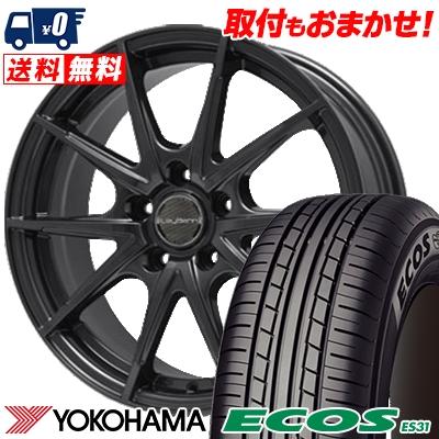 215/65R15 96S YOKOHAMA ヨコハマ ECOS ES31 エコス ES31 LeyBahn WGS レイバーン WGS サマータイヤホイール4本セット
