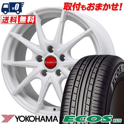 205/55R16 91V YOKOHAMA ヨコハマ ECOS ES31 エコス ES31 LeyBahn WGS レイバーン WGS サマータイヤホイール4本セット