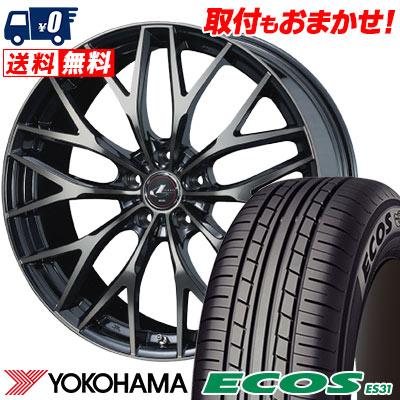 205/60R15 91H YOKOHAMA ヨコハマ ECOS ES31 エコス ES31 weds LEONIS MX ウェッズ レオニス MX サマータイヤホイール4本セット