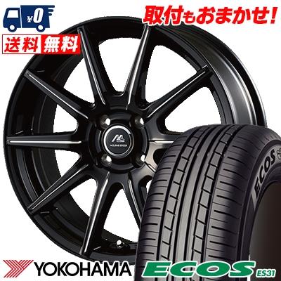 165/65R15 81S YOKOHAMA ヨコハマ ECOS ES31 エコス ES31 MILANO SPEED X10 ミラノスピード X10 サマータイヤホイール4本セット