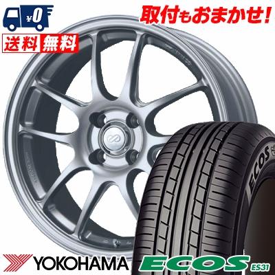 165/55R15 75V YOKOHAMA ヨコハマ ECOS ES31 エコス ES31 ENKEI PerformanceLine PF-01 エンケイ パフォーマンスライン PF01 サマータイヤホイール4本セット