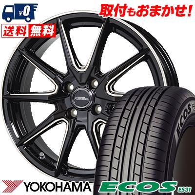 175/60R16 82H YOKOHAMA ヨコハマ ECOS ES31 エコス ES31 CROSS SPEED PREMIUM RS10 クロススピード プレミアム RS10 サマータイヤホイール4本セット