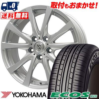 215/45R17 91W XL YOKOHAMA ヨコハマ ECOS ES31 エコス ES31 TRG-SILBAHN TRG シルバーン サマータイヤホイール4本セット