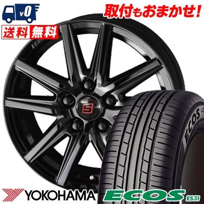 205/60R16 92H YOKOHAMA ヨコハマ ECOS ES31 エコス ES31 SEIN SS BLACK EDITION ザイン エスエス ブラックエディション サマータイヤホイール4本セット