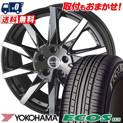 195/60R15 88H YOKOHAMA ヨコハマ ECOS ES31 エコス ES31 SMACK SFIDA スマック スフィーダ サマータイヤホイール4本セット
