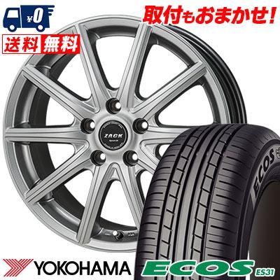 195/60R16 89H YOKOHAMA ヨコハマ ECOS ES31 エコス ES31 ZACK SPORT-01 ザック シュポルト01 サマータイヤホイール4本セット