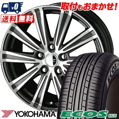 195/60R15 88H YOKOHAMA ヨコハマ ECOS ES31 エコス ES31 SMACK SPARROW スマック スパロー サマータイヤホイール4本セット