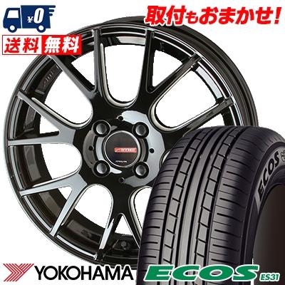 145/65R15 72H YOKOHAMA ヨコハマ ECOS ES31 エコス ES31 CIRCLAR RM-7 サーキュラー RM-7 サマータイヤホイール4本セット