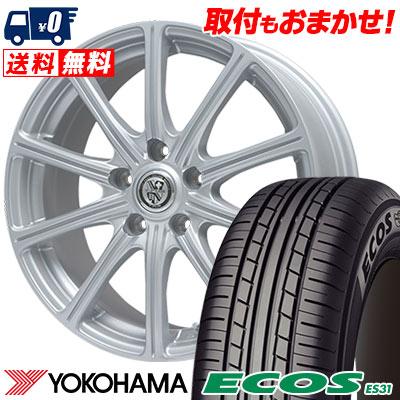 215/65R15 96S YOKOHAMA ヨコハマ ECOS ES31 エコス ES31 TRG-SS10 TRG SS10 サマータイヤホイール4本セット