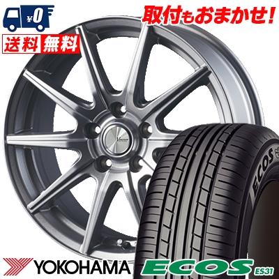 215/55R17 94V YOKOHAMA ヨコハマ ECOS ES31 エコス ES31 V-EMOTION SR10 Vエモーション SR10 サマータイヤホイール4本セット