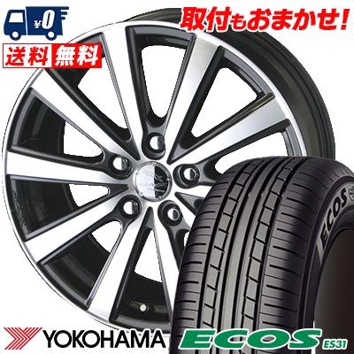 205/60R16 92H YOKOHAMA ヨコハマ ECOS ES31 エコス ES31 SMACK VIR スマック VI-R サマータイヤホイール4本セット