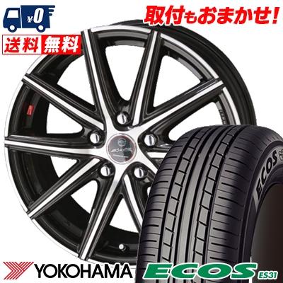 195/65R15 91S YOKOHAMA ヨコハマ ECOS ES31 エコス ES31 SMACK PRIME SERIES VANISH スマック プライムシリーズ ヴァニッシュ サマータイヤホイール4本セット