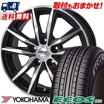 195/60R15 88H YOKOHAMA ヨコハマ ECOS ES31 エコス ES31 JP STYLE WOLX JPスタイル ヴォルクス サマータイヤホイール4本セット