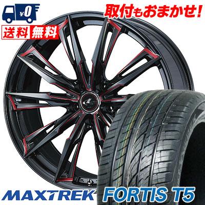 245/35R20 95Y XL MAXTREK マックストレック FORTIS T5 フォルティス ティーファイブ WEDS LEONIS GX ウェッズ レオニス GX サマータイヤホイール4本セット