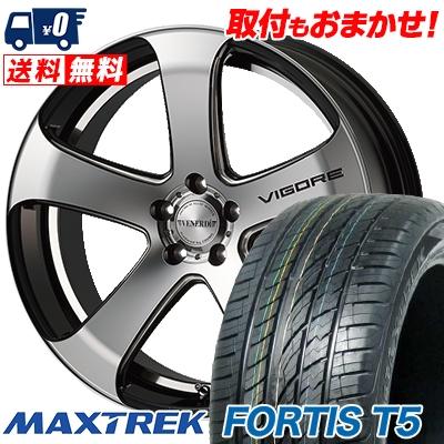 255/45R20 105W XL MAXTREK マックストレック FORTIS T5 フォルティス ティーファイブ VENERDi VIGORE ヴェネルディ ヴィゴーレ サマータイヤホイール4本セット