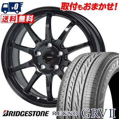 215/55R18 95V BRIDGESTONE ブリヂストン REGNO GRV2 レグノ GRV-2 G.speed G-04 Gスピード G-04 サマータイヤホイール4本セット