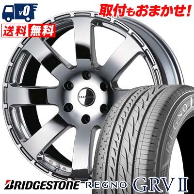 100%安い 225/50R18 BRIDGESTONE ブリヂストン REGNO GRV2 レグノ GRV-2 Reverson R8 レベルソン R8 サマータイヤホイール4本セット for 200系ハイエース, GlassGallery Is 5eee759c