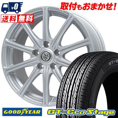 215/55R17 94V Goodyear グッドイヤー GT-Eco Stage ジーティー エコステージ TRG-SS10 TRG SS10 サマータイヤホイール4本セット